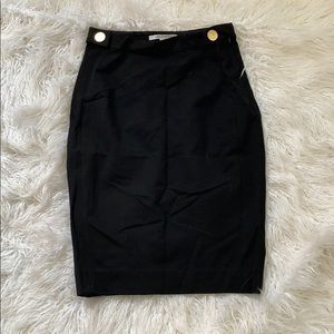 Black Pencil Diane von Furstenberg Skirt Sz 8